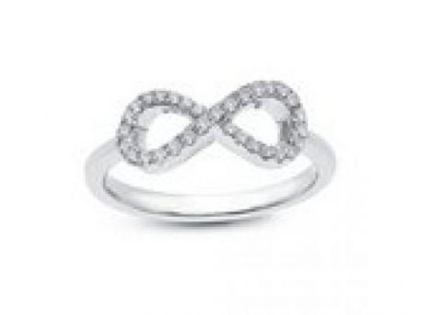 Ring - SS .31ctw Simulated Infinity Ring